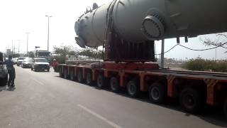 Very big trailer with 100 tyre