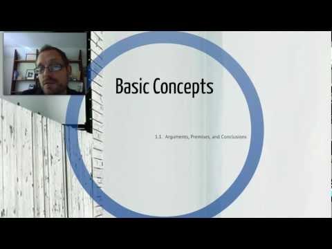 1.1  Basic Concepts:  Arguments, Premises, & Conclusions
