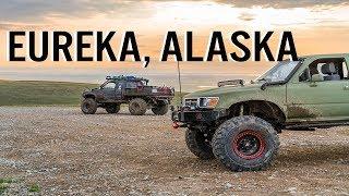 ALASKA 4X4 OFF ROAD   EUREKA   CRAZY DEEP WATER CROSSING