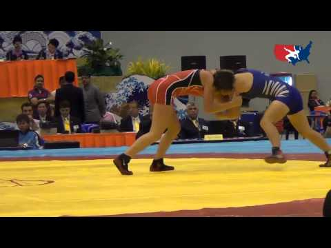 2012 Junior Worlds - FW 51kg - Haley Augello (USA) vs. Davaachimeg Erkhembayar (MGL)