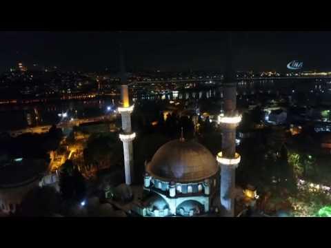 Eyüp Sultan Camii Mevlid Kandili'nde Havadan Görüntülendi