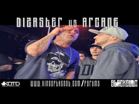 KOTD - Rap Battle - Dizaster vs Arcane (Title Match) *Co-Hosted By Drake*