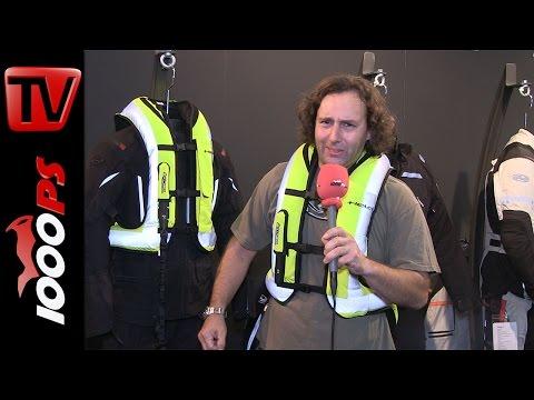 Held Airbagweste Helite 2015   Livevorführung am Vauli