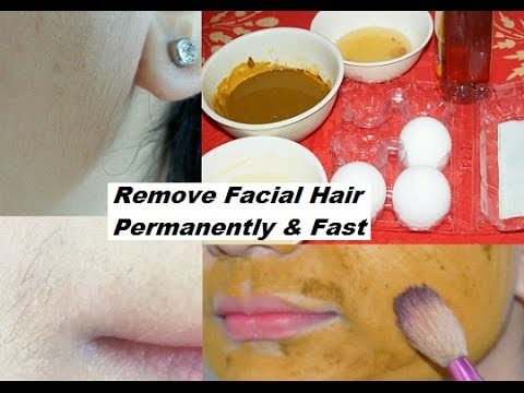 How to remove facial hair permanently at home