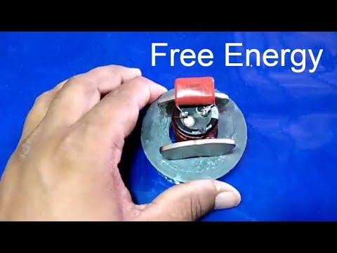 how to build free energy automatic make electricity maschine with capacitor magnet and copper wire