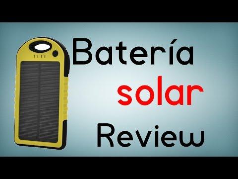 Batería externa solar - Review en español