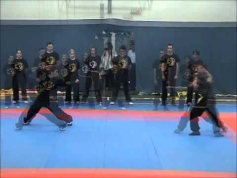 Northern Eagle Claw Kung Fu Demo in Greek Army Aviation School Image 1