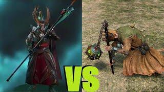 Стражи Феникса vs Чумные монахи с кадилами Total War Warhammer 2. тесты юнитов v1.4.1.
