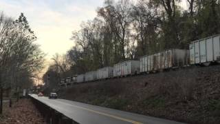 NS Ballast Train Goes Through Red Signal with Permission