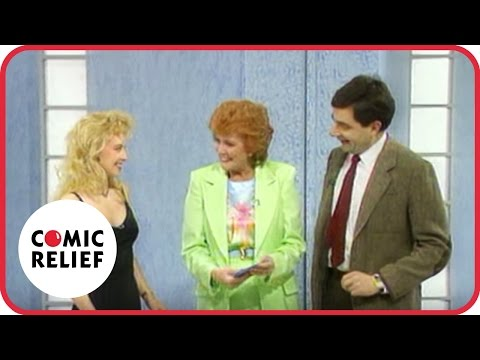 Mr Bean on Blind Date, with Cilla Black.