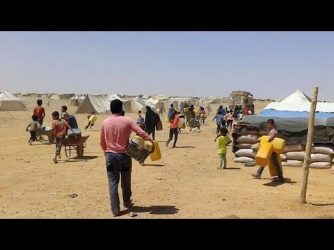 Syria conflict: Russian jets 'bomb refugee camp on Jordan border'