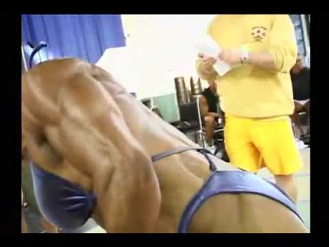 sexy muscular female bodybuilder