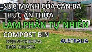 trồng rau - làm phân xanh tại nhà | COMPOST BIN | PHÂN HỮU CƠ