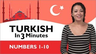 Learn Turkish - Turkish in Three Minutes - Numbers 1-10