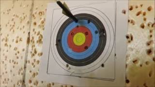 Precision shooting with medieval crossbow