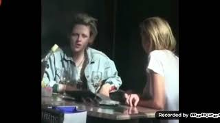 Exclusive kristen and stella maxwell in NY  drink a win   no money