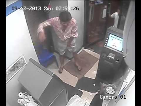 Vandalism At Chennai Atm - Cctv Footage video