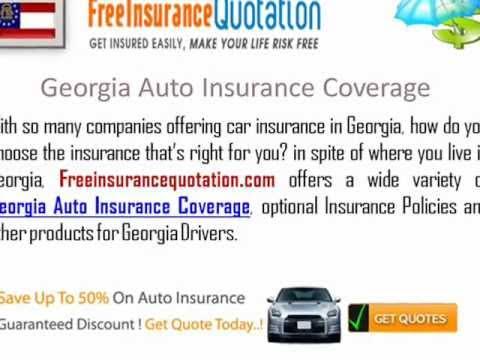Georgia Auto Insurance Company - Auto Insurance Quotes In Georgia