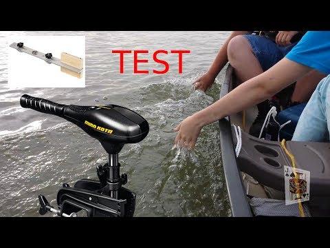 Minn Kota C2 30 Trolling Motor test and bass pro shop canoe mount test with 3 people