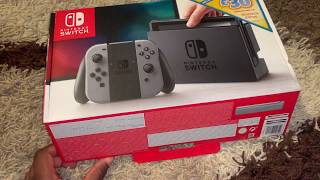 Nintendo Switch Unboxing 2019 (Grey Colour)