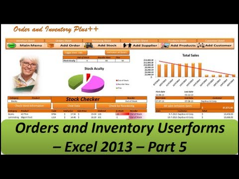 Excel VBA - Orders and Inventory Management - Excel 2013 Part 5 Userforms
