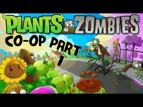 Plants vs Zombies Part 1 - Co-op - Daytime