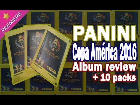 ★ ARGENTINA PREMIERE ★ PANINI Copa América Centenario ⚽️ Album + 10x packs