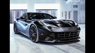 Ferrari F12 Berlinetta Black BEAST Ride INSANE SOUNDS Start Up Acceleration