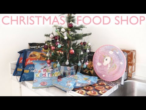 CHRISTMAS FOOD SHOP | VLOGMAS DAY 21 | Lucy Jessica Carter