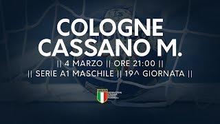 Serie A1M [19^]: Cologne - Cassano Magnago 24-28