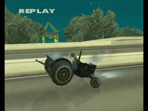 Gta San Andreas Tractor Stunts video