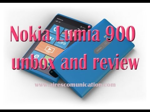Nokia Lumia 900 windows phone unbox and review