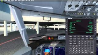 P3D/FSX Tutorial:  Program the FMC of Honeywell - English