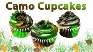 Camouflage Cupcakes: How to Make Camo Cupcakes by Cookies Cupcakes and Cardio