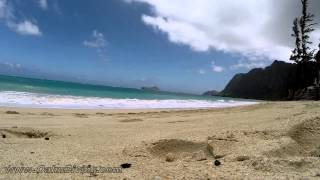 Your 5 minute Waimanalo Beach Break- relaxing in Oahu