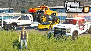 REPOING MR. CHOW'S MONSTER TRUCK & CALLING THE POLICE! | FARMING SIMULATOR 2019