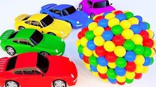 Ccouleurs Avec des balles de véhicules de rue Voitures de sport Cartoon