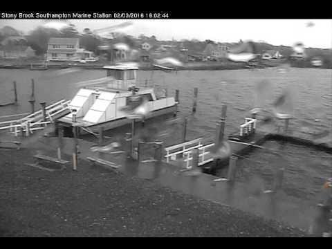 Southampton Marine Station Dock Webcam  February 3, 2016