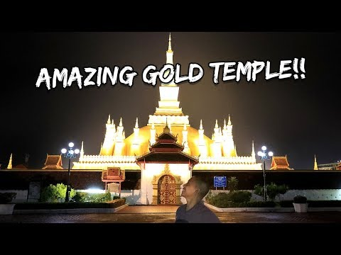AMAZING GOLD TEMPLE IN LAOS - IT WAS GLOWING! | Vlog #202