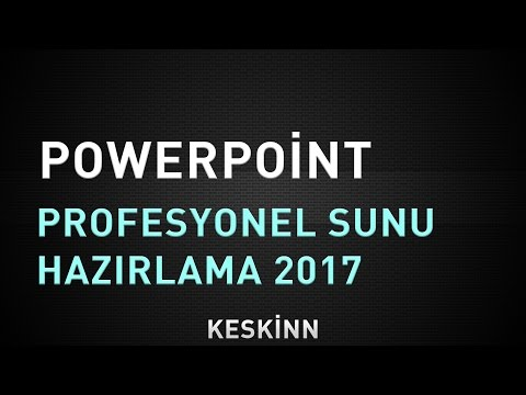 Powerpoint Slayt Hazırlama 2018 (Gelişmiş Profesyonel Anlatım)