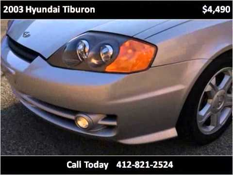 2003 Hyundai Tiburon Used Cars Pittsburgh PA