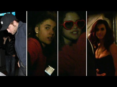 Justin Bieber, Selena Gomez, and Robert Pattinson at Katy Perry's Movie Premiere Party