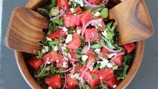 {Salad Recipe} Watermelon And Feta Salad Recipe By CookingForBimbos.com