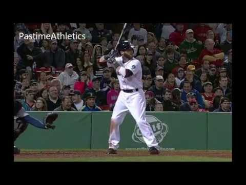 Dustin Pedroia Slow Motion Home Run Baseball Swing Hitting Mechanics Instruction Boston Red Sox MLB