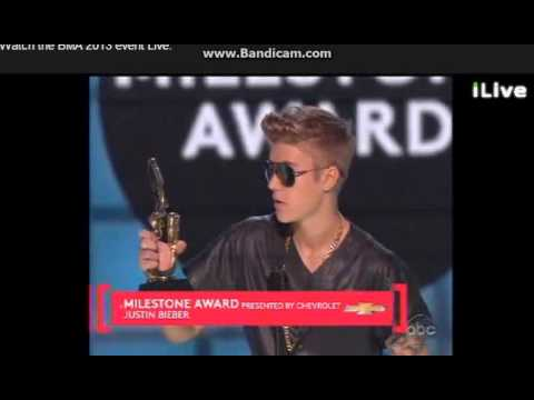 JUSTIN BIEBER WINS MILESTONE AWARD BILLBOARD MUSIC AWARDS 2013