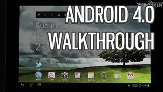 Android 4.0 IceCream Sandwich for tablets walkthrough on Asus Transformer Prime