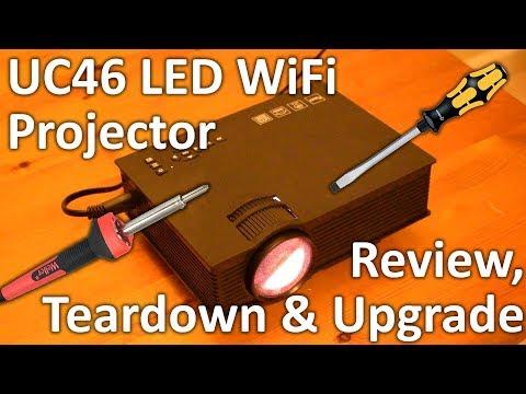 UC46 £50 WiFi projector review. teardown & noisy fan fix