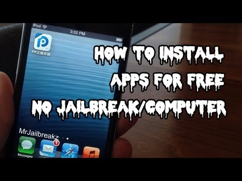 How To Get APPS FREE iOS 8 (NO JAILBREAK/COMPUTER)- 25PP Mobile (October 2013)
