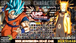 Anime Stardust: Jump Ultimate Stars (196 Personagens) - (DOWNLOAD) - GAME PC e ANDROID Mugen