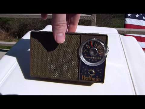 1959 Hoffman Solar powered transistor radio model BP-706 (Made in California, USA)